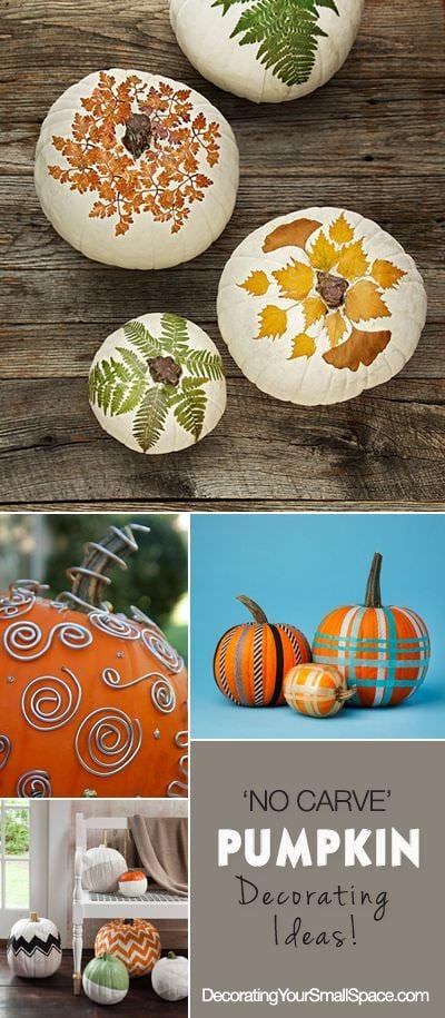 No Carve Pumpkin Decorating Ideas Ohmeohmy Blog