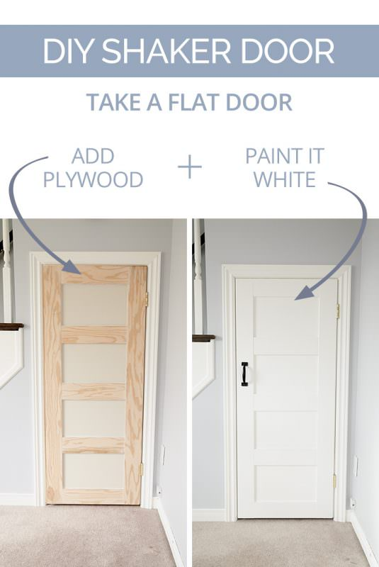Interior door makeover projects decorating your small space - Easy ways of adding color to your home without overspending ...