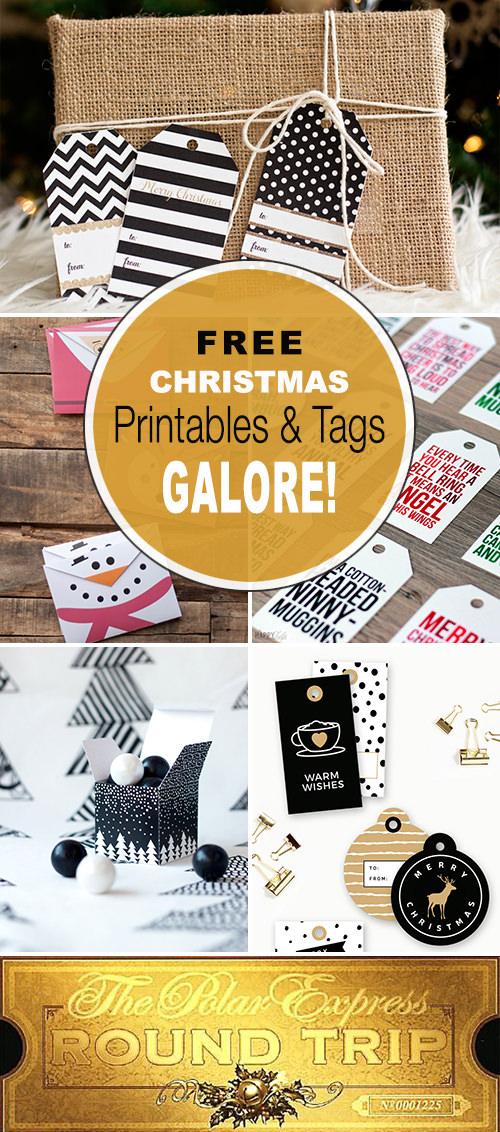 Free Christmas Printables & Tags Galore!