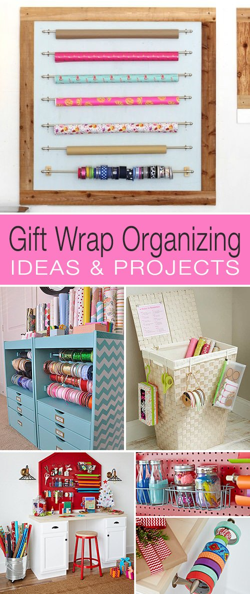 Gift Wrap Organizing - Ideas & Projects