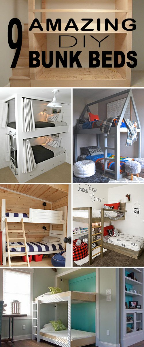 Attrayant 9 Amazing Diy Bunk Beds