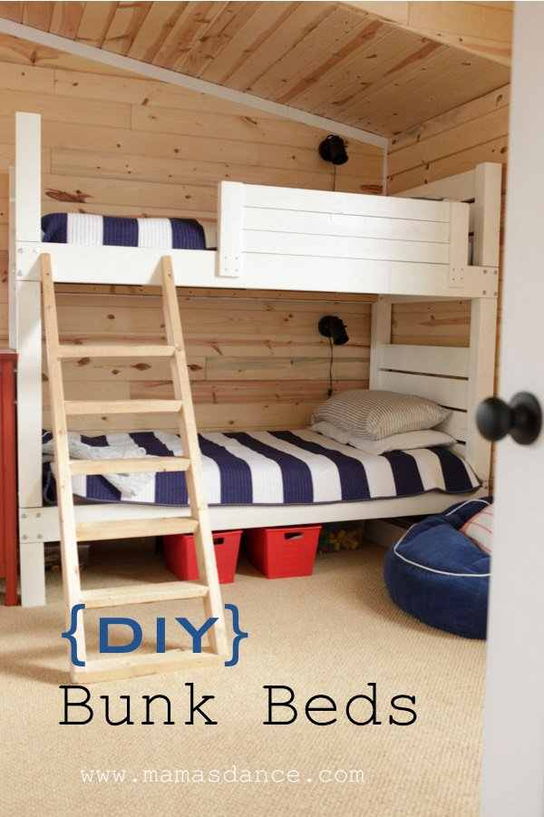 These DIY built in bunk beds are a permanent installation of a cool custom piece you can do your self! From \u0027Chris Loves Julia\u0027 this project has plenty of ... & 9 Amazing DIY Bunk Beds | Decorating Your Small Space