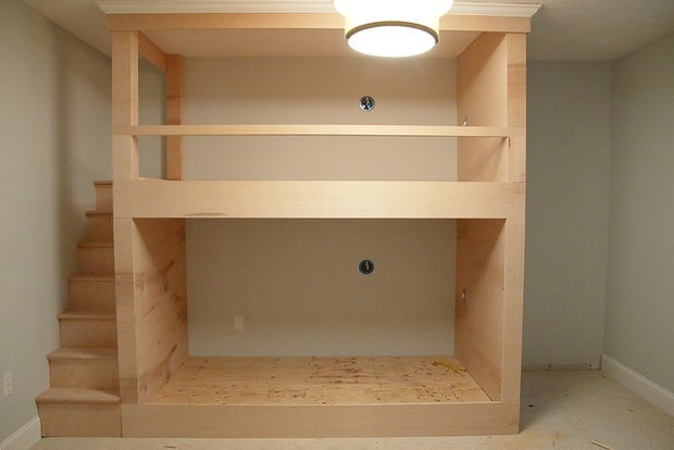 Now that you have one built-in tutorial under your tool belt, try this   Kids bedroom with custom built in bunk beds ...