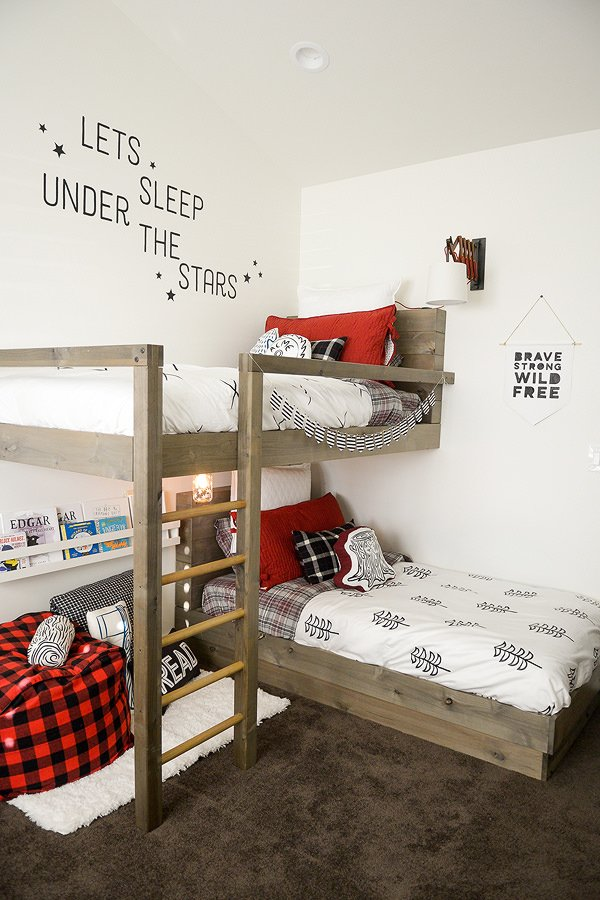 9 amazing diy bunk beds decorating your small space - Bunk beds for small spaces ...