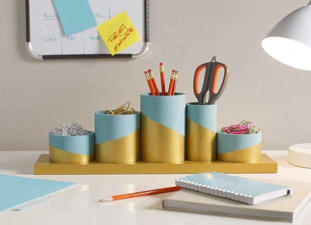 Diy desk organizing ideas projects decorating your - Diy desk organizer ideas ...