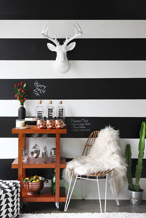 Diy Black White Decor Projects Ohmeohmy Blog