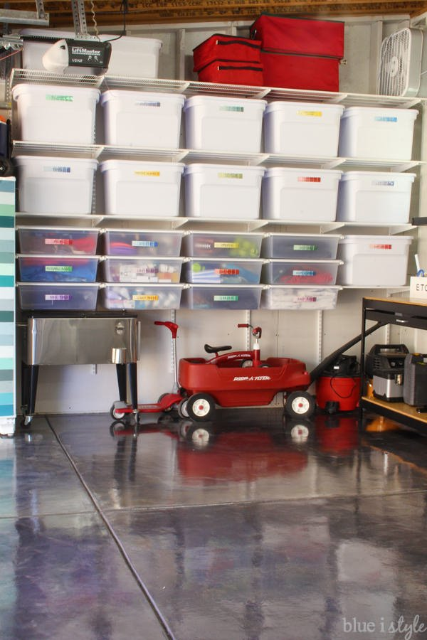 And it leaves room underneath for more garage storage! Slide in those trikes and chest coolers! & DIY Garage Storage Ideas u0026 Projects | Decorating Your Small Space