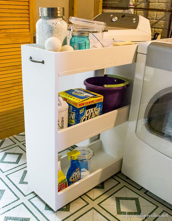 Diy laundry room projects decorating your small space - Laundry hampers for small spaces plan ...
