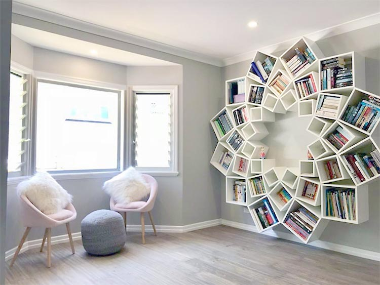Here Is Another Bookshelf Idea That Along The Same Lines Though We Could Not Find A Tutorial Or Even Source For It Makes Me Think Of How