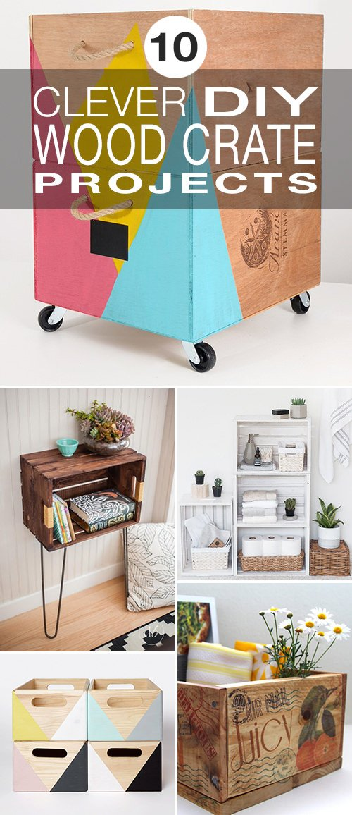 10 Clever DIY Wood Crate Projects