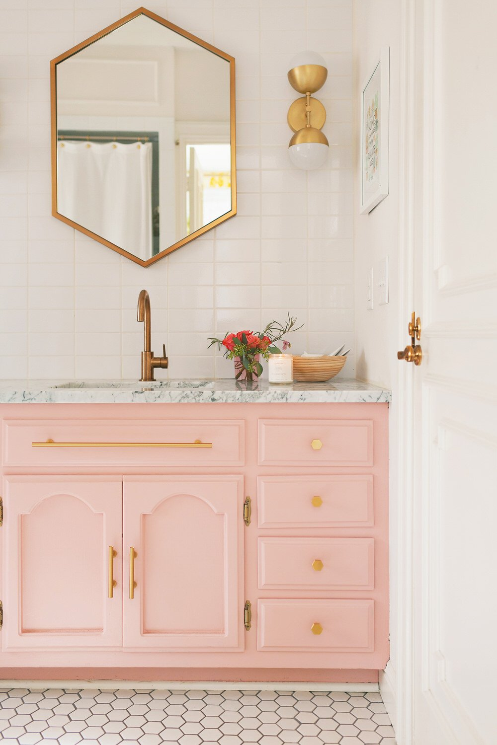 If You Need Fresh Small Bathroom Ideas, Then Try This Tip From U0027Liz Marieu0027.  You Can Use Non Traditional Wall Art In A Bathroom. It Just Adds To The  Charm!