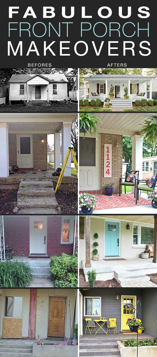 Fabulous Front Porch Makeovers - Before and After Photos