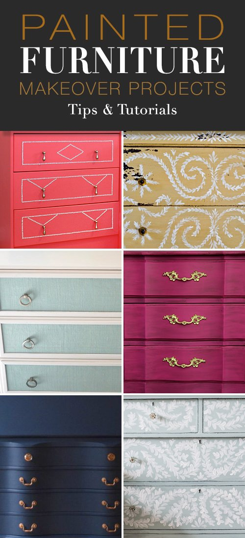 Painted Furniture Makeover Projects