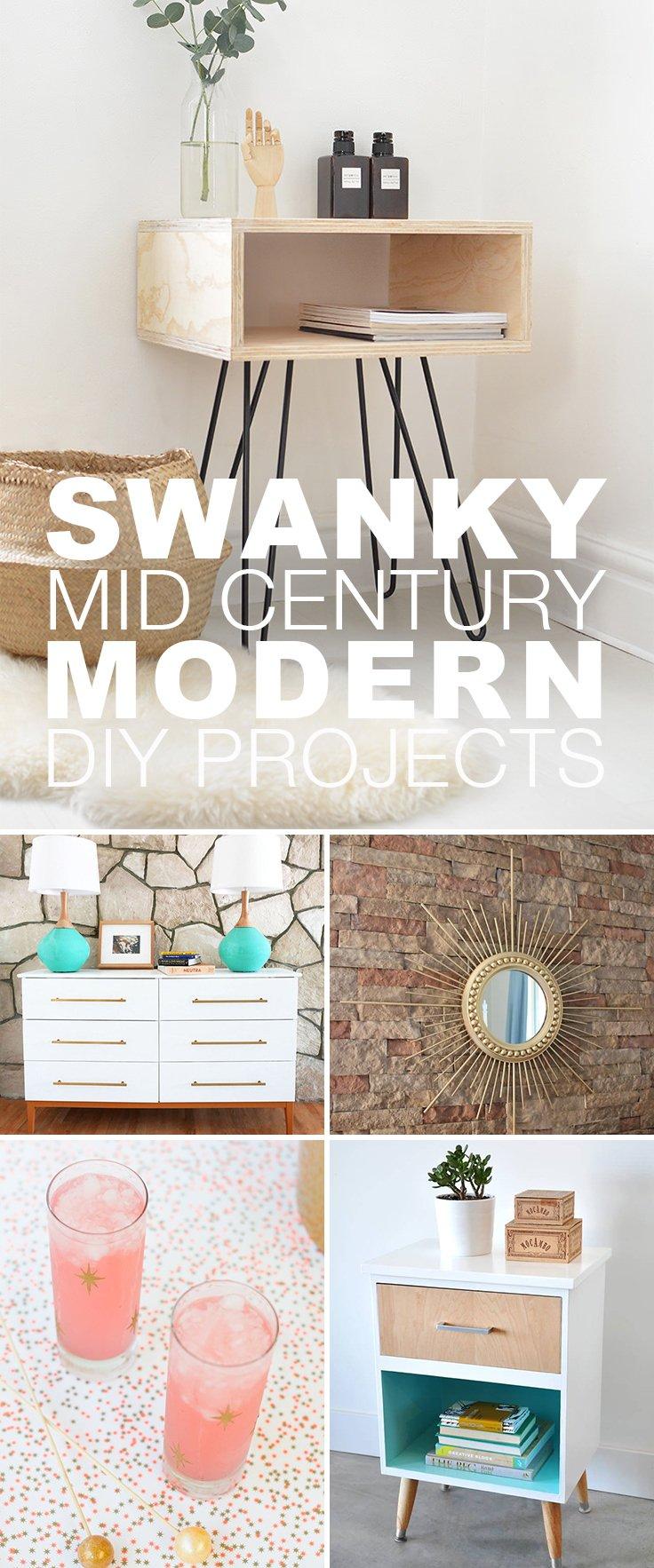 15 swanky mid century modern diy projects