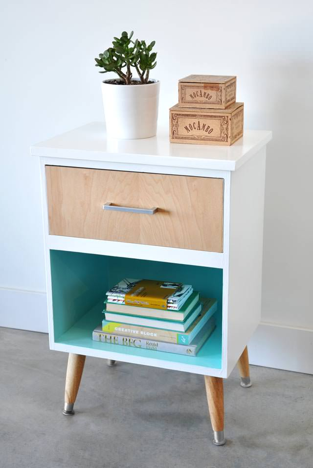 modern diy furniture. This Next One Is Of Our Favorite Mid Century Modern DIY Projects!  Nightstand From Caroline At \u0027Burkatron\u0027 Exactly What This Modern Diy Furniture