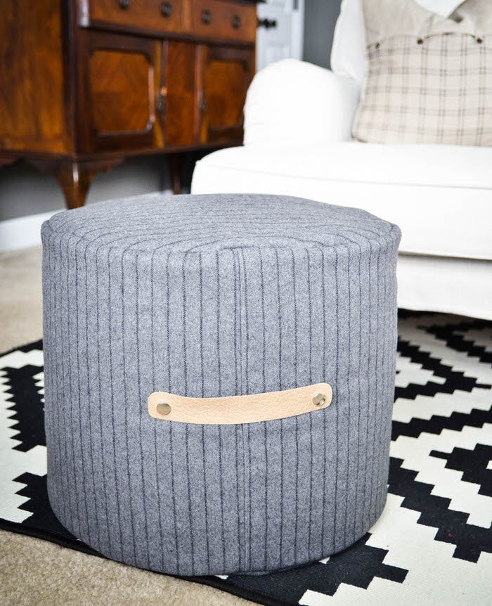 Superb 10 Posh Diy Pouf Projects Ohmeohmy Blog Machost Co Dining Chair Design Ideas Machostcouk