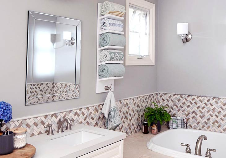10 Brilliant Bathroom Towel Storage Ideas