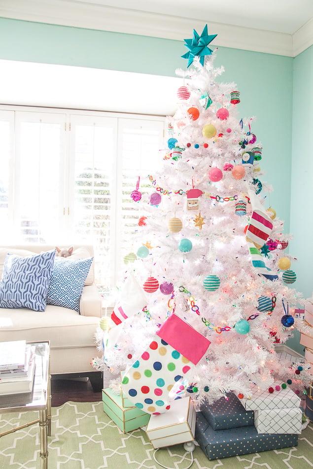 Colorful Christmas Tree Ideas.12 Stunning Christmas Tree Theme Ideas Ohmeohmy Blog