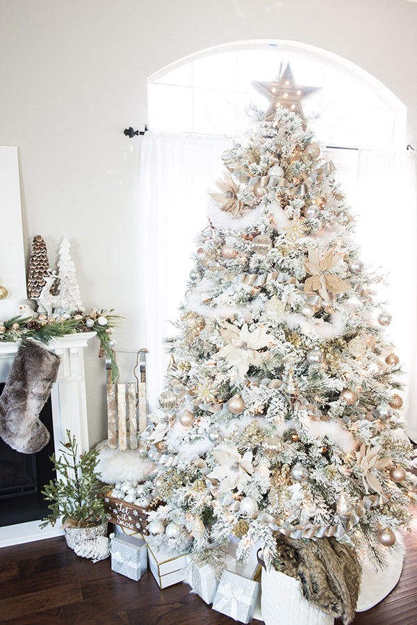 Winter Wonderland Christmas Theme.12 Stunning Christmas Tree Theme Ideas Ohmeohmy Blog