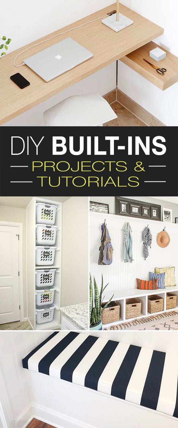 And Yes You Can Build These Yourself Try Great How To S Tutorials For Diy Built Ins Solve The Small Home Dilemma