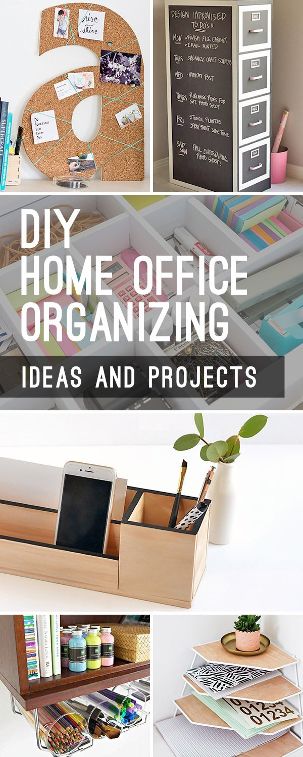 DIY Home Office Organizing Ideas | Decorating Your Small Space