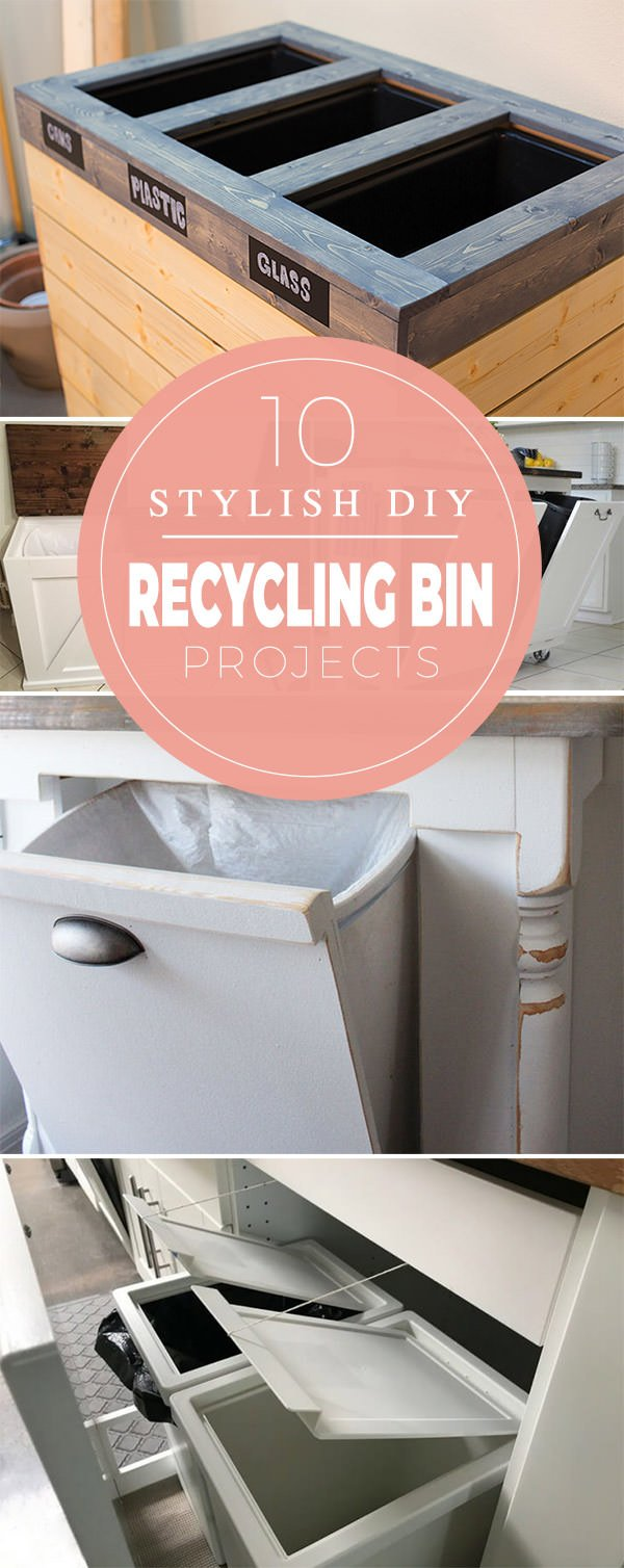 10 Stylish DIY Recycling Bin Projects