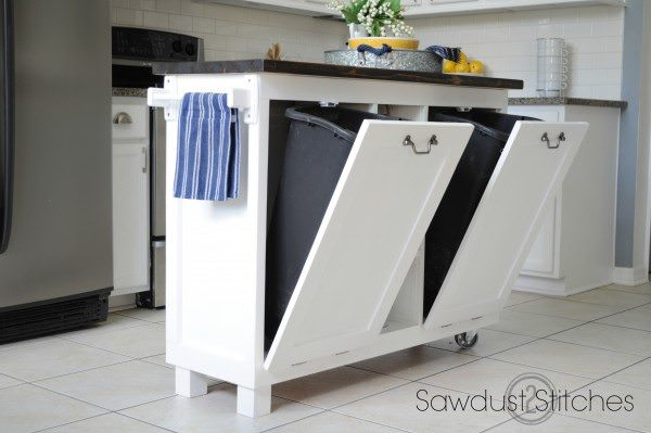 Built In Recycling Bins Too Great Step By Tutorial For This Project If You Want To Know How Add More E Your Kitchen Is The Way