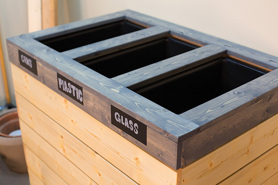 Find The Free Plans For This Double Bin Diy Recycling Center At Ana White One Of Her Readers Actually Did Particular Project So You Know Can Do