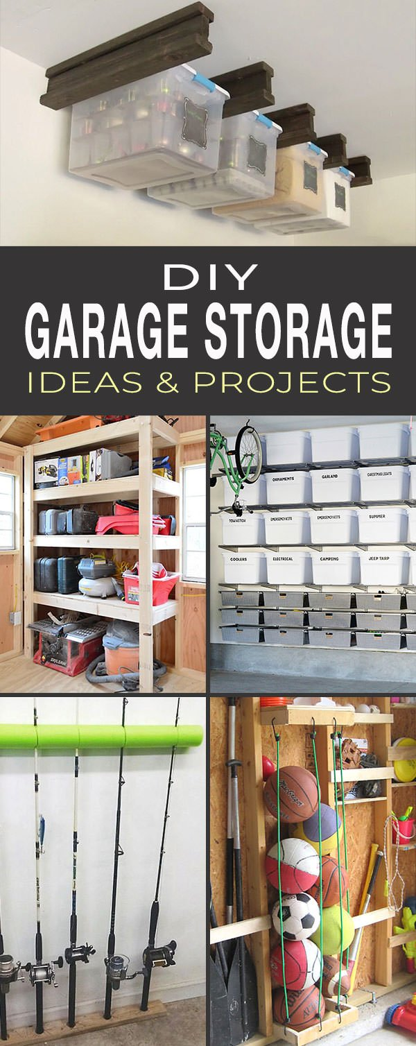 DIY Garage Storage Ideas & Projects - tall pin for Pinterest
