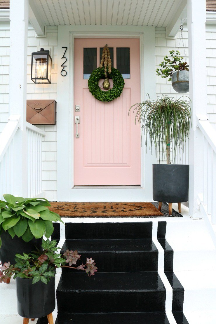 Fresh & Colorful Front Door Decor and Design Ideas ...