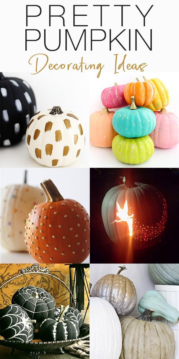 Pumpkin Decorating Ideas : 11 Ideas for Pretty Pumpkins