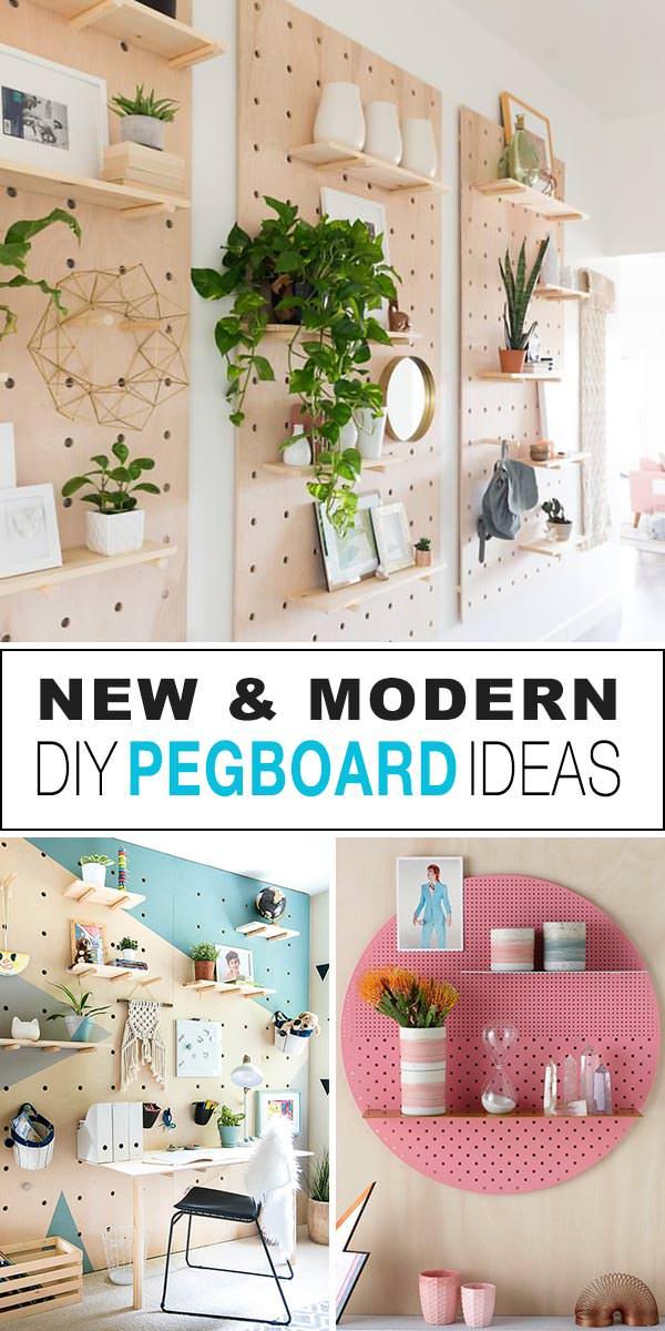 New & Modern DIY Pegboard Ideas