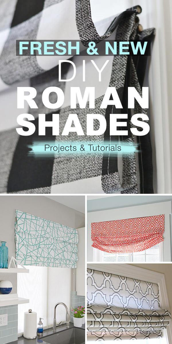 Fresh & New DIY Roman Shades