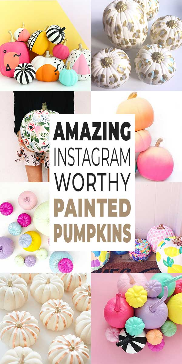 Amazing Instagram Worthy Painted Pumpkins