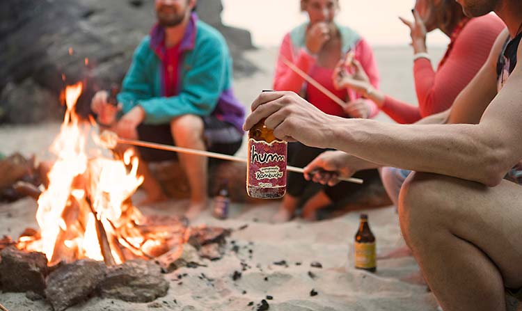 Sitting around a camp fire, drinking Kombucha Tea?