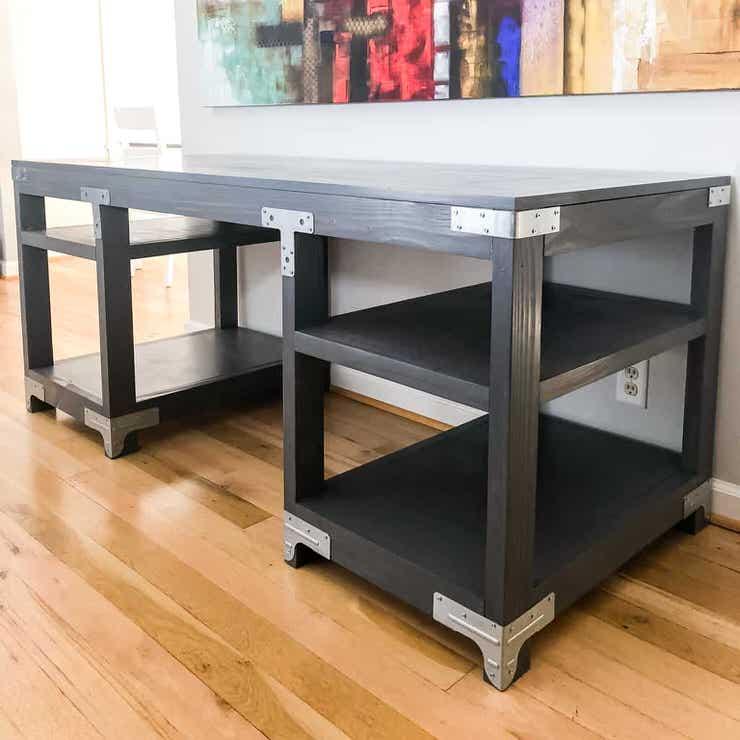 diy computer desk design | DIY Desk Plans & Ideas | OhMeOhMy Blog