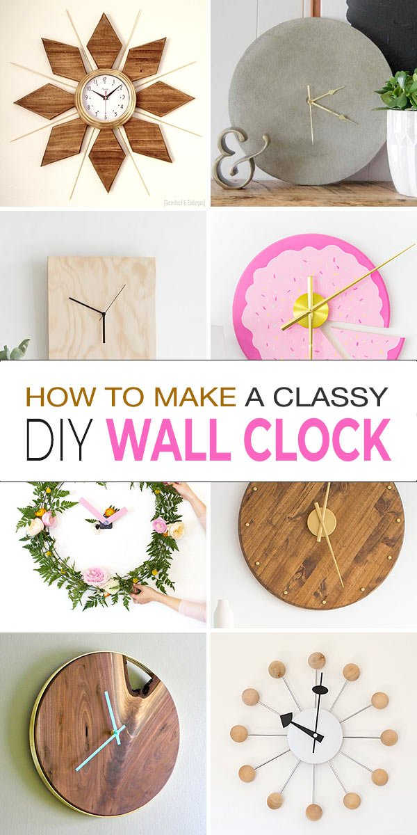 How To Make A Clock Classy Diy Clock Ideas Ohmeohmy Blog
