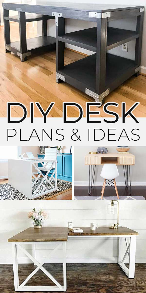 DIY Desk Plans & Ideas