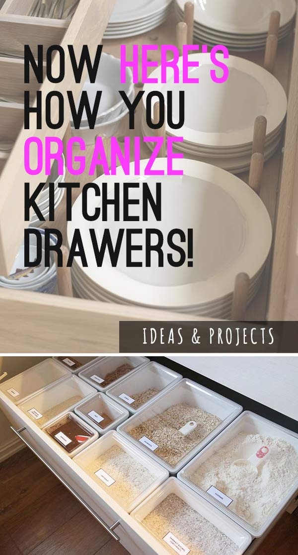 Organizing Kitchen Drawers - Ideas & Projects