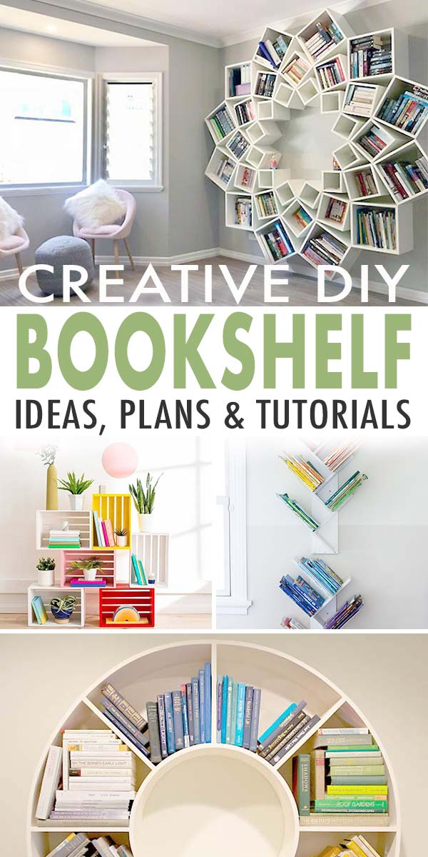 Creative DIY Bookshelf Ideas, Plans & Tutorials