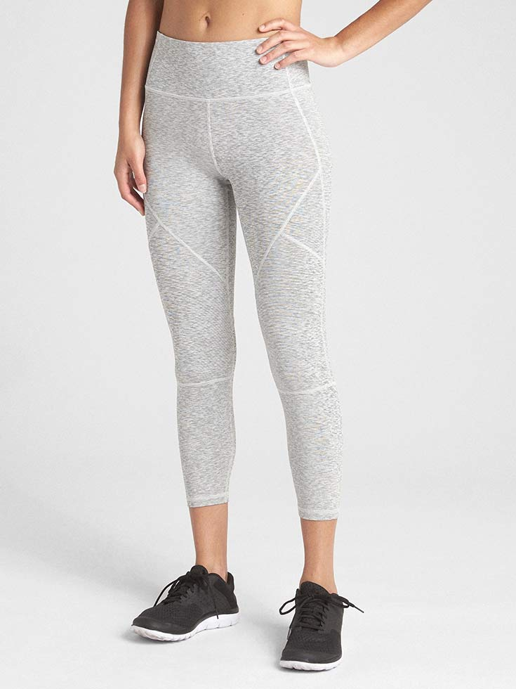 cdfe9869e8 The GapFit High Rise Blackout 7/8 Spacedye leggings are perfect for the  gym. They are high compression, so they may fit a little smaller.