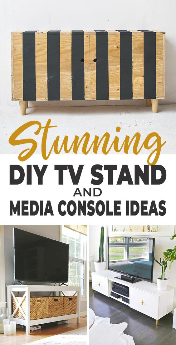 Diy Tv Stand Media Console Ideas Ohmeohmy Blog