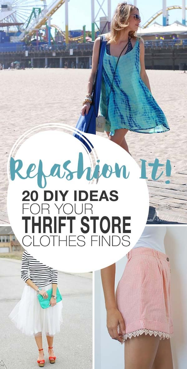 Refashion It! 20 DIY Ideas for Your Thrift Store Clothes Finds