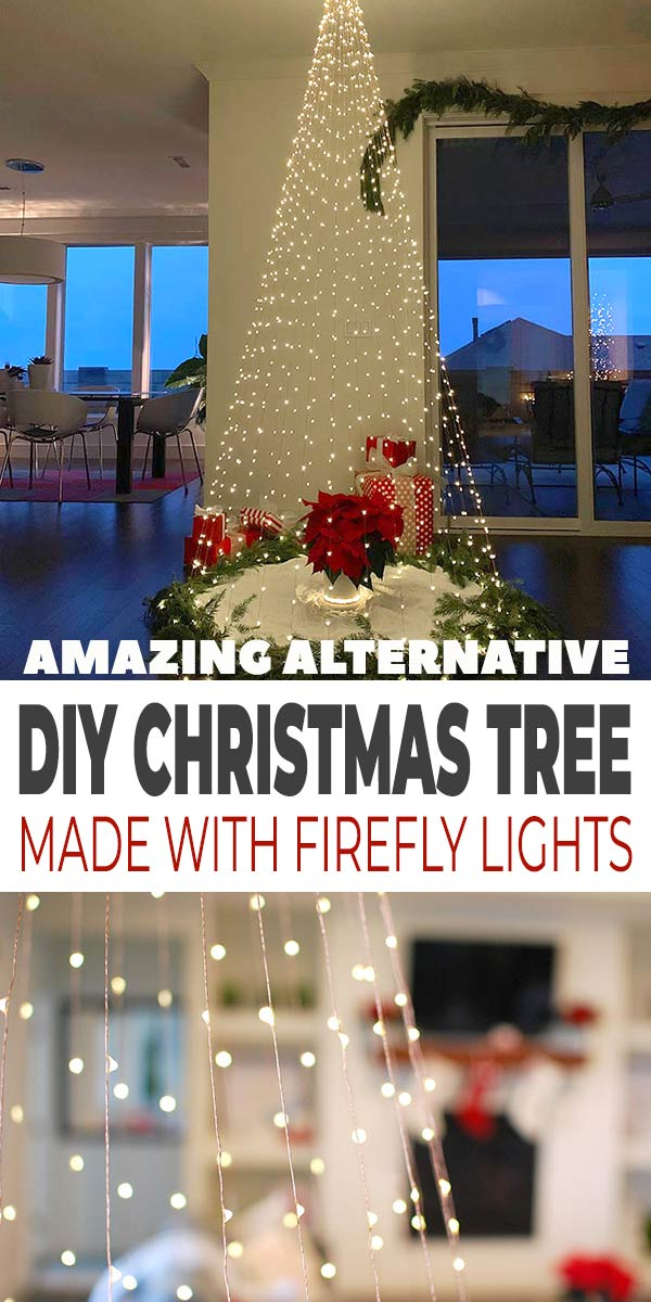DIY Christmas Tree Using Only Firefly Lights